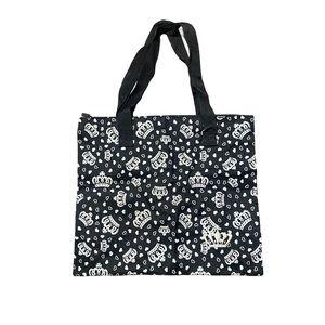Black Princess Tiara Crown tote bag small